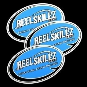 Reel Skillz Gear Custom Oval Stickers