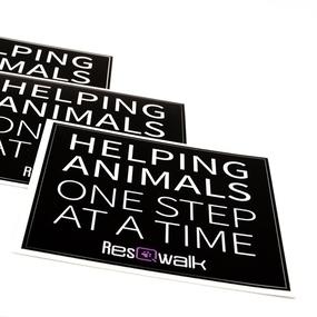 ResQ Walk Custom Rectangle Stickers
