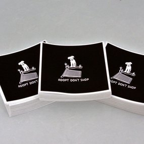Res Q Threads Custom Rounded Rectangle Stickers