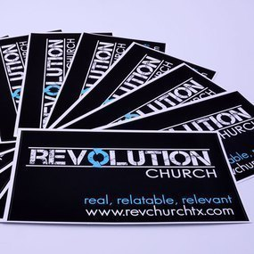 Revolution Church Custom Rectangle Stickers
