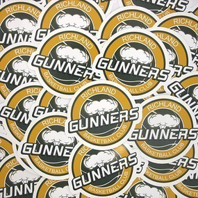 Richland Gunners Custom Die Cut Stickers