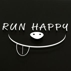 Run Happy Custom Cut-Out Stickers