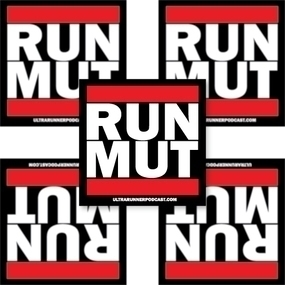 Ultra Runner Podcast Run Mut Custom Rectangle Stickers