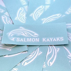 Salmon Kayaks Custom Cut-Out Stickers