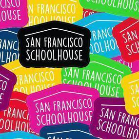 San Francisco Schoolhouse Die Cut Stickers