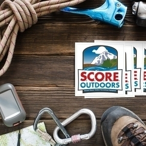 SCORE Outdoors Square Stickers