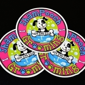 ShamPooch Grooming Circle Stickers