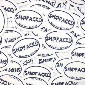 Shipfaced Custom Oval Stickers