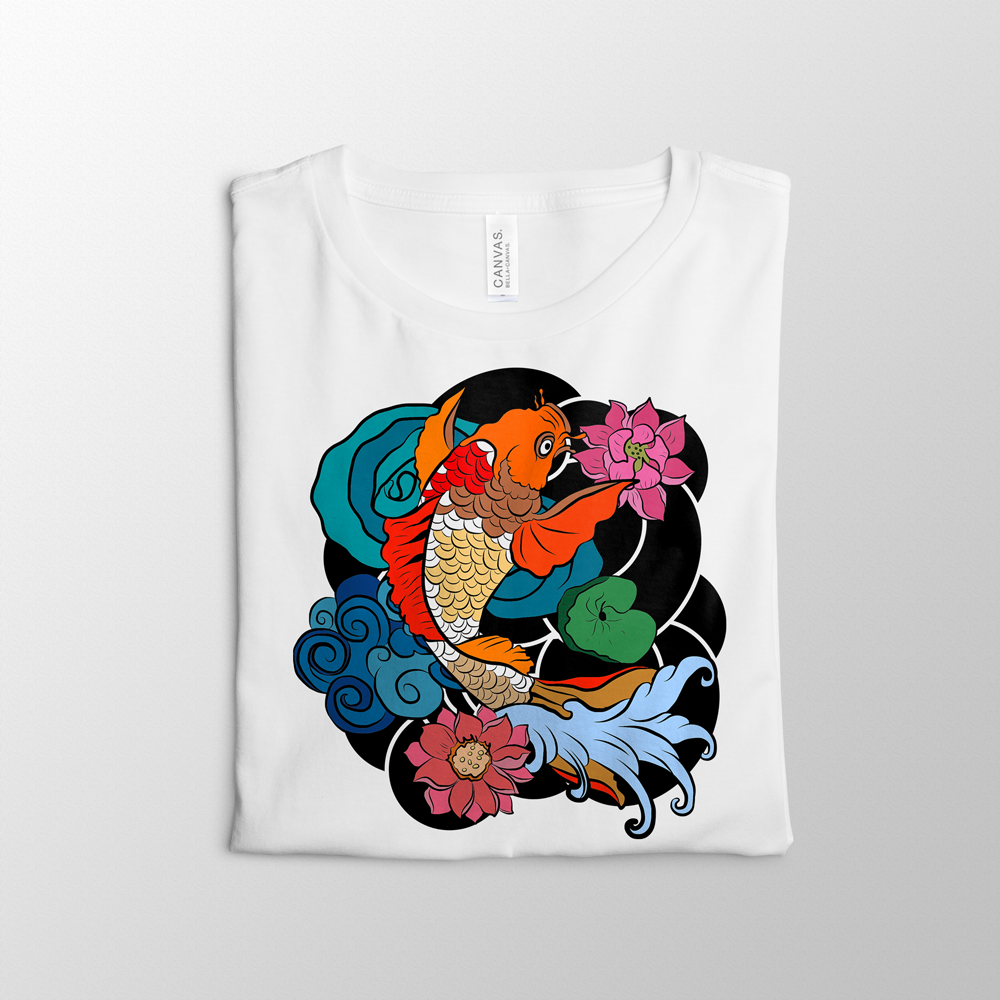 Colorful Koi Pond Shirt Design