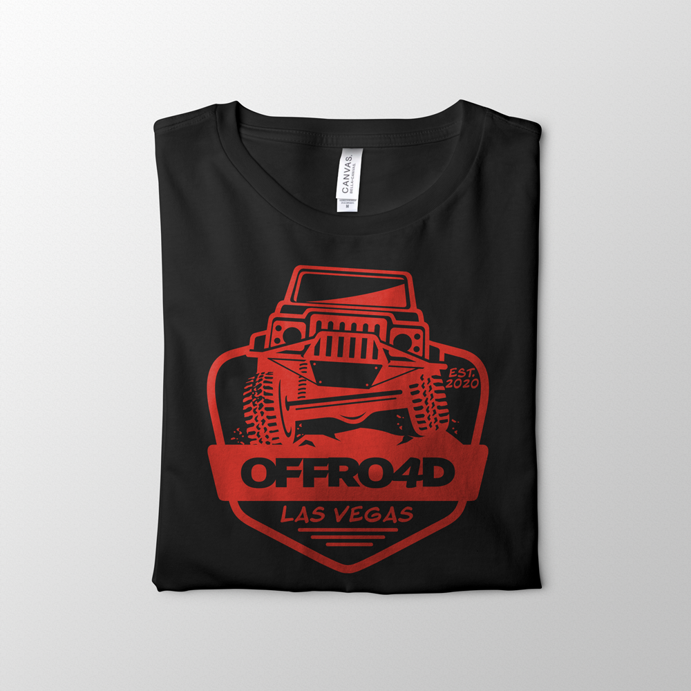 Offroad Black Tee Design