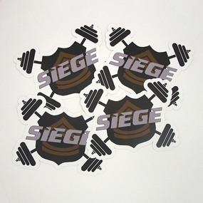 SIEGE Custom Die Cut Stickers