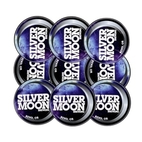 Custom Silver Moon Brewing Circle Stickers