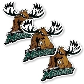 Salt Lake City Moose Custom Die Cut Stickers
