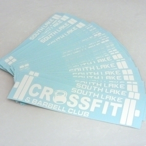 South Lake Crossfit Cut-Out Stickers