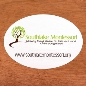 Southlake Montessori Custom Oval Stickers