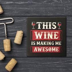 Wine Square Coaster