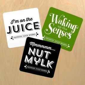 Squeeze Juice Works Custom Rounded Rectangle Stickers