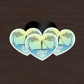 Stand Up Paddleboard Custom Heart Magnet