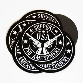 Support the Second Amendment Custom Circle Magnets