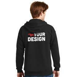 Men's Black Sweatshirt Example Back