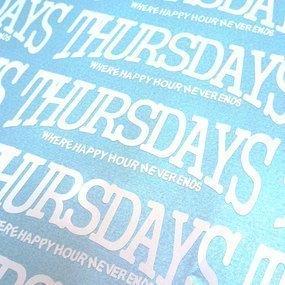 Thursdays Custom Cut-Out Sticker