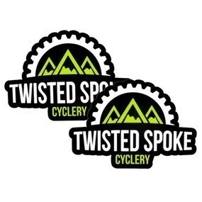 Twisted Spoke Cyclery Custom Die Cut Stickers