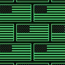 Glow in the Dark USA Flag Sticker