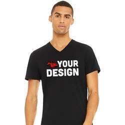 Men's Black V-Neck Short Sleeve Shirt Example