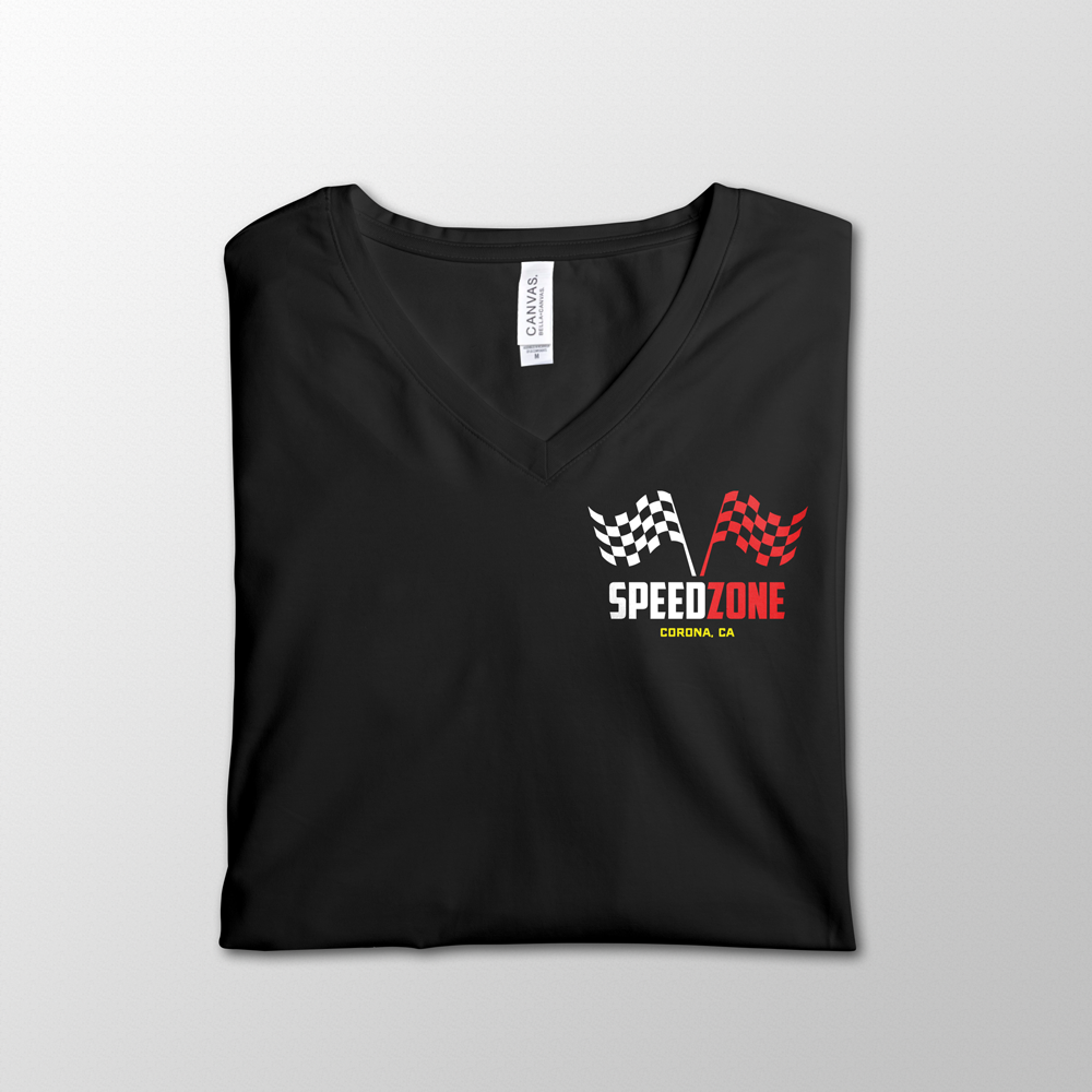 SpeedZone Black V-Neck Design