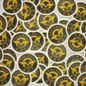 Vulcan Riders Custom Circle Stickers