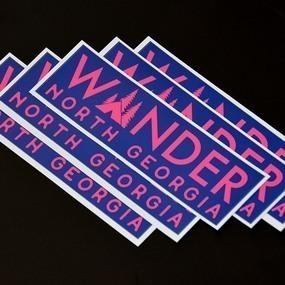 Wander North Georgia Bumper Sticker