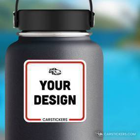 Rounded Corner Sticker Water Bottle