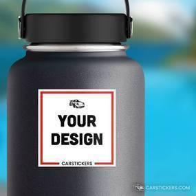 Square Sticker Water Bottle