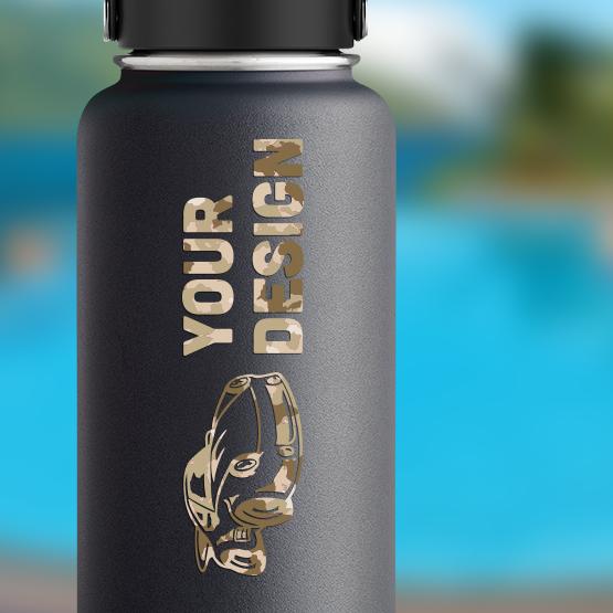Camo Transfer Water Bottle