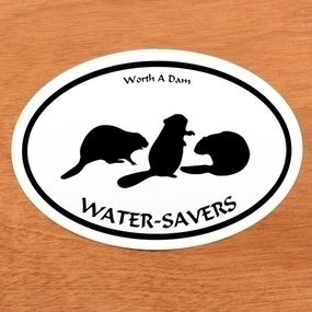 Water Savers Custom Oval Stickers