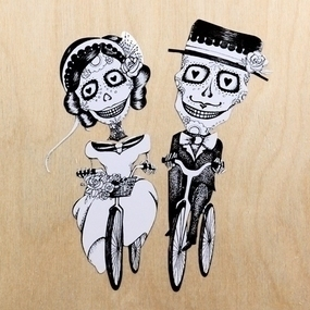 Wedding Couple Custom Multi-Color Cut Out Stickers