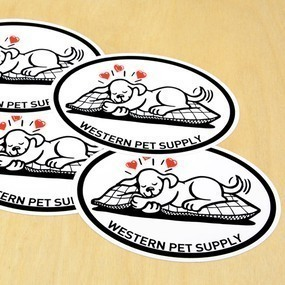 Western Pet Supply Custom Oval Stickers