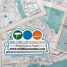 Wild Blue Wander Die Cut Cling Stickers