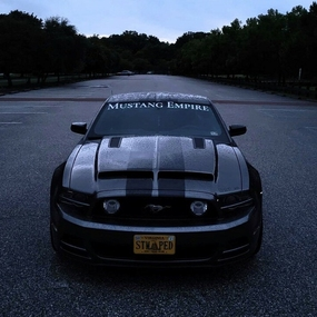 Mustang with Custom Windshield Decal