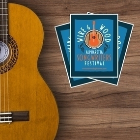 Wire Wood Songwriters Festival Rectangle Stickers