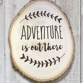 Adventure Wood Stencil Sticker