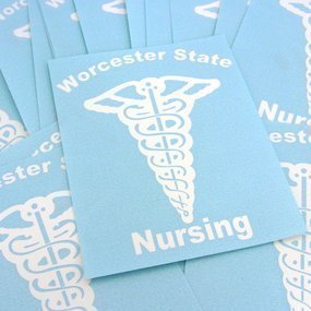 Worcester State Nursing Custom Cut-Out Stickers