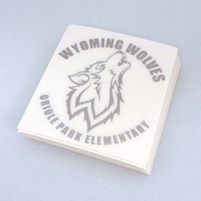 Wyoming Wolves Custom Cut-Out Stickers