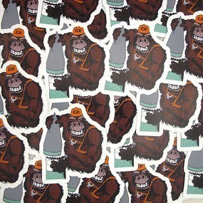 X2 Gorilla Custom Die Cut Stickers
