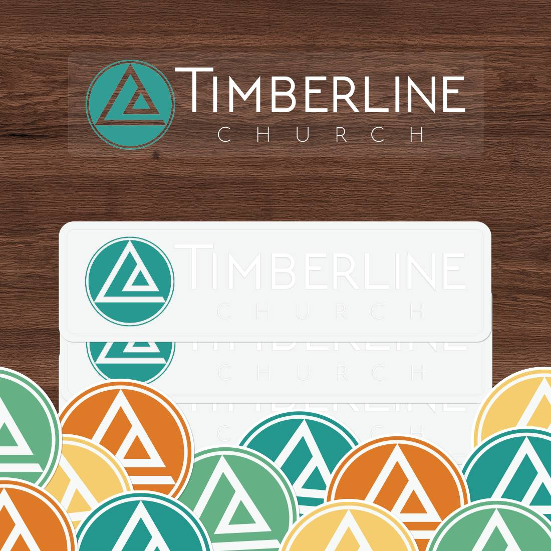 Timberline Church Clear Stickers