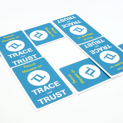 Trace and Trust Custom Rounded Rectangle Stickers