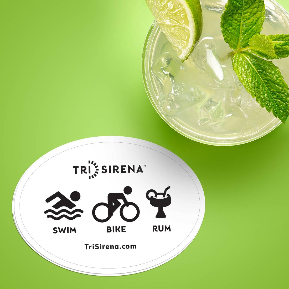 Tri Sirena Custom Oval Stickers
