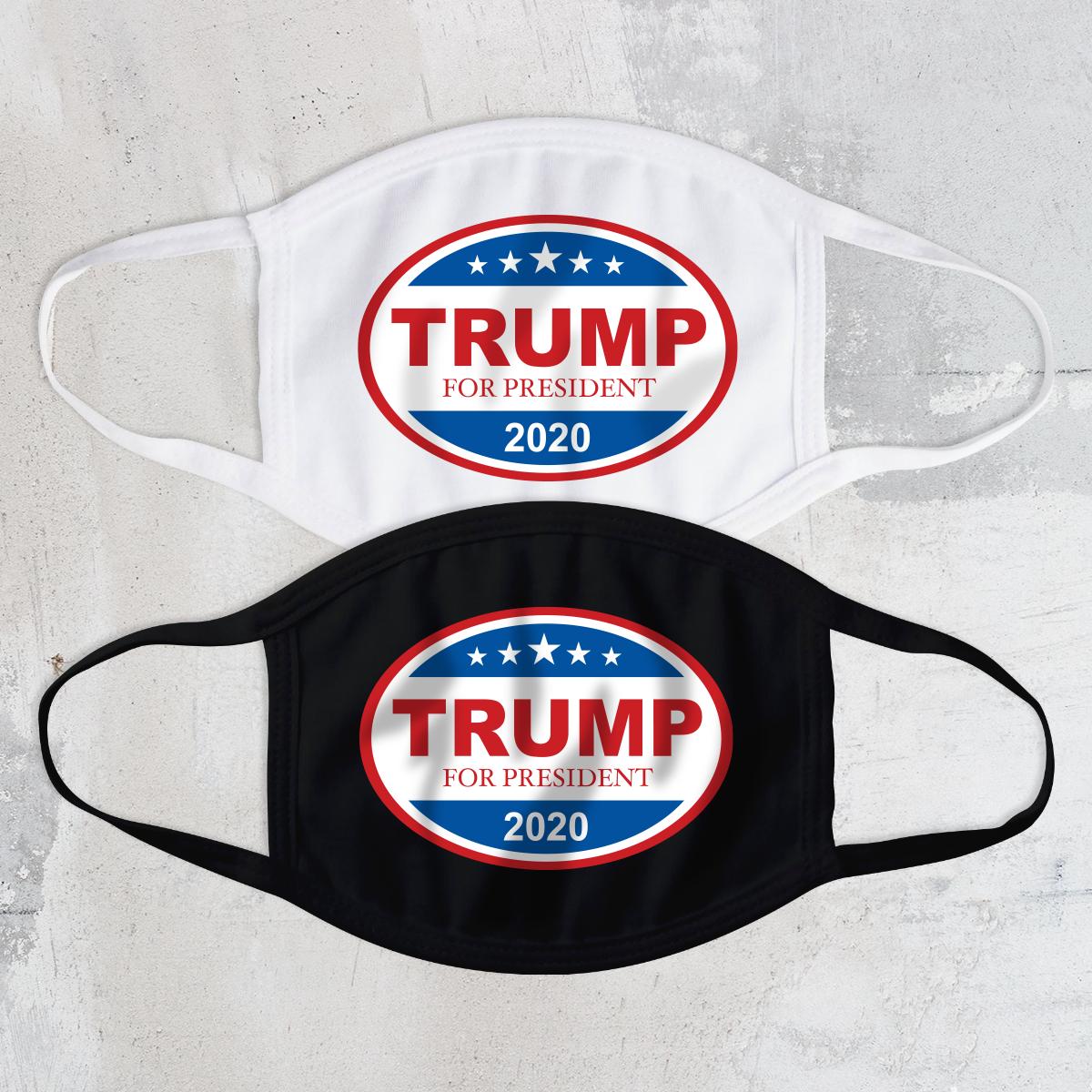 Trump 2020 Oval Face Mask