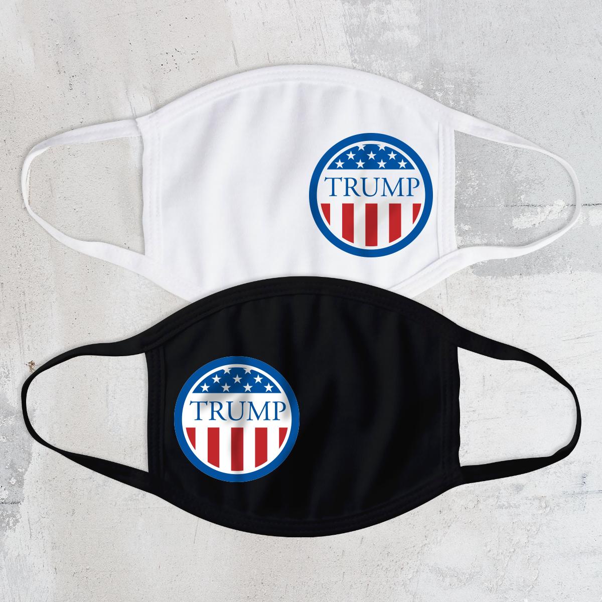 Trump Circle Flag Face Mask