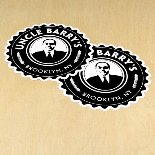 Uncle Barry's Custom Die Cut Stickers